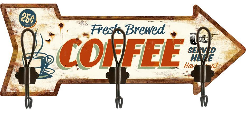 Appendino 3 ganci Coffee Freccia