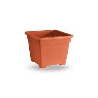 Veca Vaso Quadrato 38 cm Colore Terracotta Ideale per Piante e Fiori Da Giardino