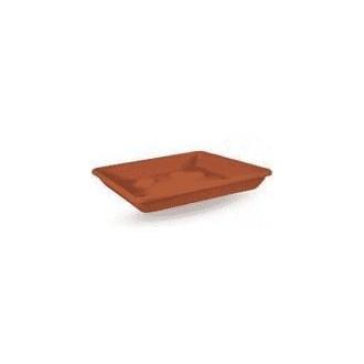 Veca Sottovaso Quadrato Colore Terracotta 36 cm Ideale per Piante e Fiori Da Giardino