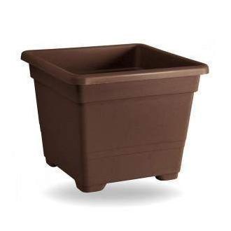Veca Vaso Quadrato 38 cm Colore Bronzo Adatto a Fiori e Piante da Giardino