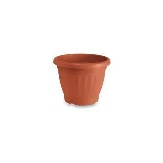 Veca Firenze Vaso Colore Terracotta 45 cm Circolare Per Piante E Fiori Da Giardino