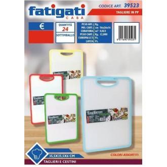 Fatigati Tagliere in PP 35,5x25,5x6 cm Tagliere in Vari Colori Assortiti