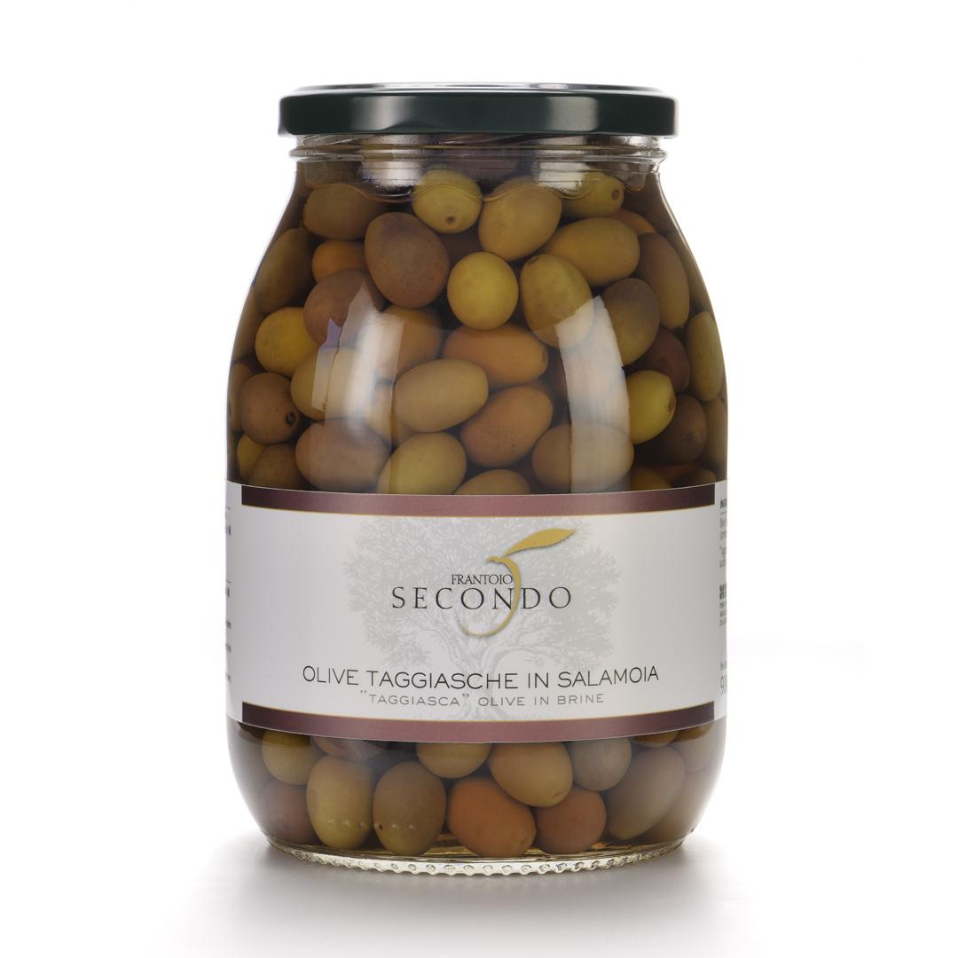 Olive Taggiasche in salamoia   Barattolo da 900gr.