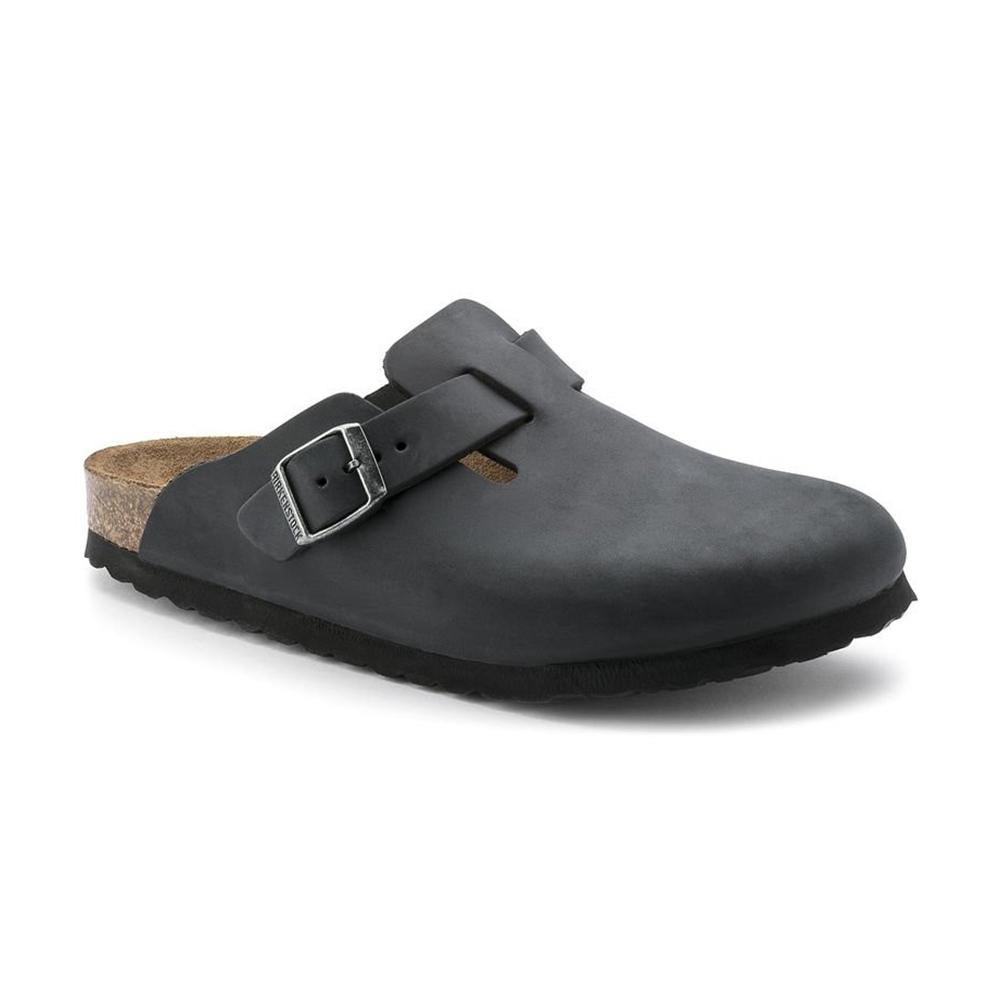 Boston Black Oiled Leather