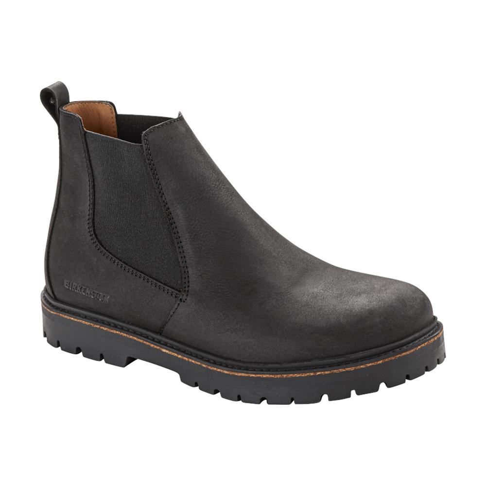 Stalon Black Nubuck Leather