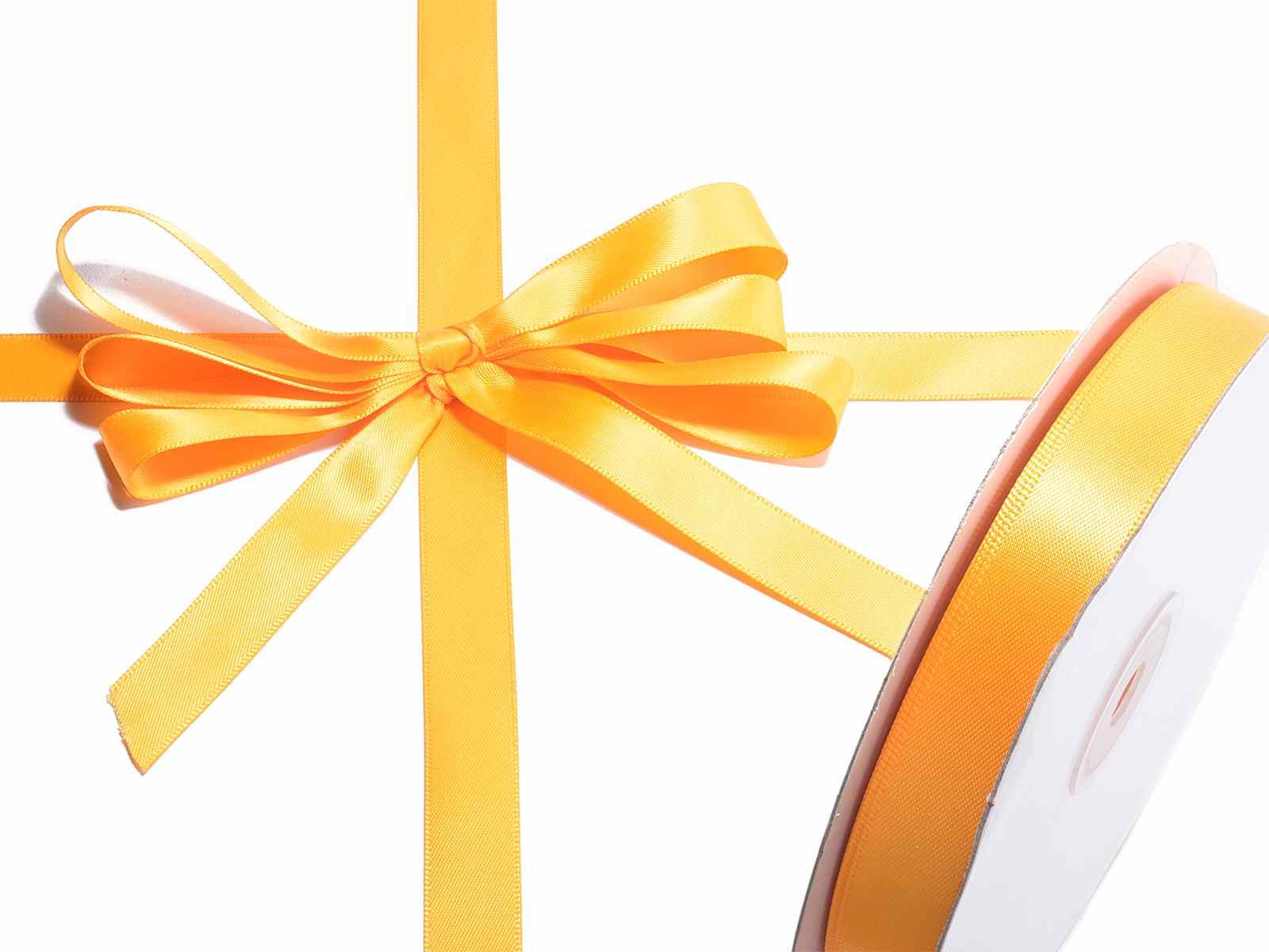 Nastro doppio raso arancio mm 15 x 50 mt