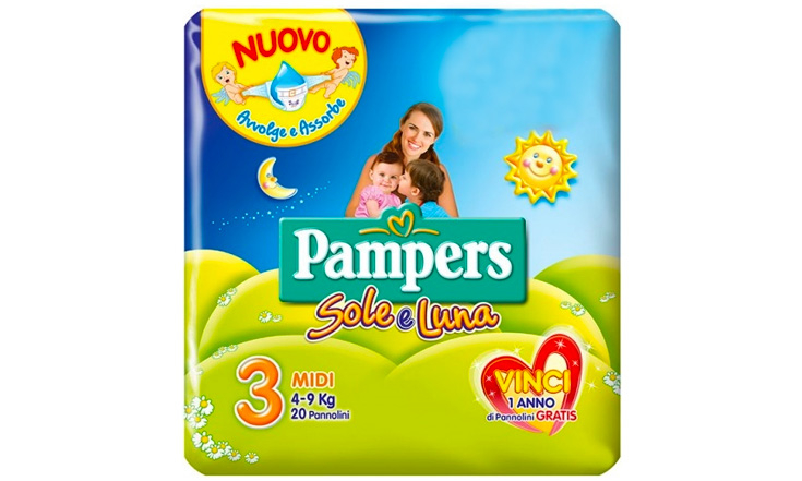 Pampers Sole-Luna 3 Midi 4-9kg