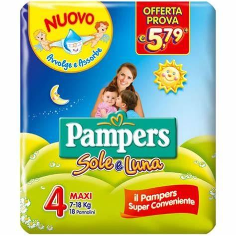Pampers Sole-Luna 4 Maxi 7-18kg