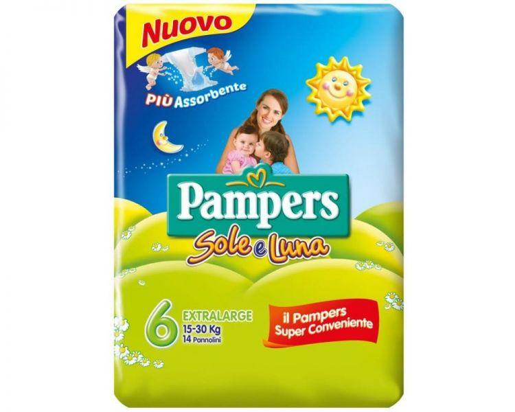 Pampers Sole-Luna 6 ExtraLarge 15-30kg