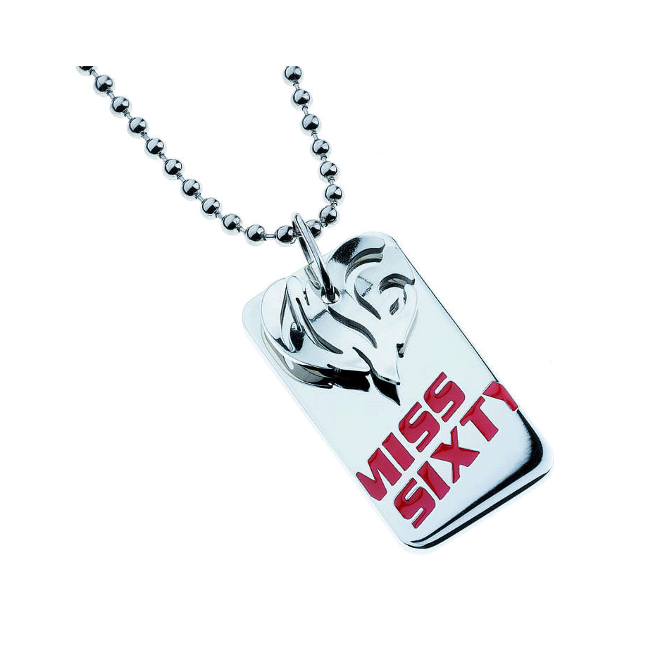 Collana donna Miss Sixty. Piastra Miss Sixty e cuore.