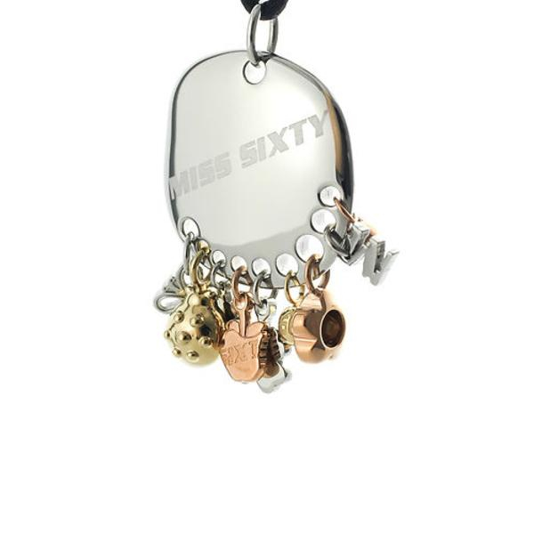 Collana donna Miss Sixty. Medaglia con charms.