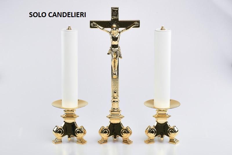 Coppia candelieri barocco completi