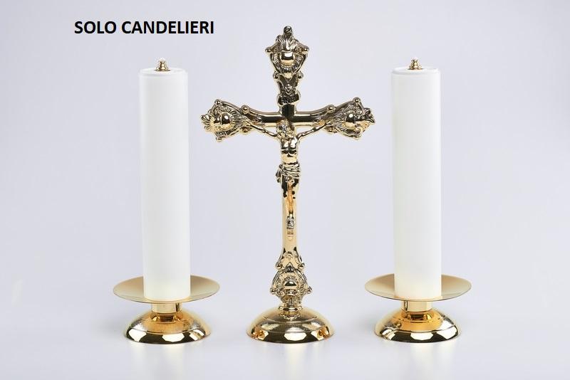 Coppia candelieri completi cm. 30
