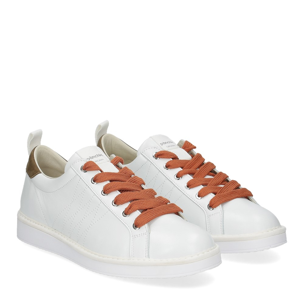 Panchic P01M leather white milatrygreen orange