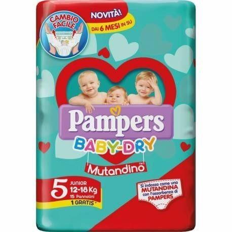 Pampers Pannolini Baby Dry Mutandino 5 Junior ( 12-18 KG ) 14 pz