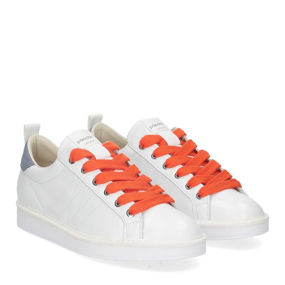 Panchic P01W leather white denim orange