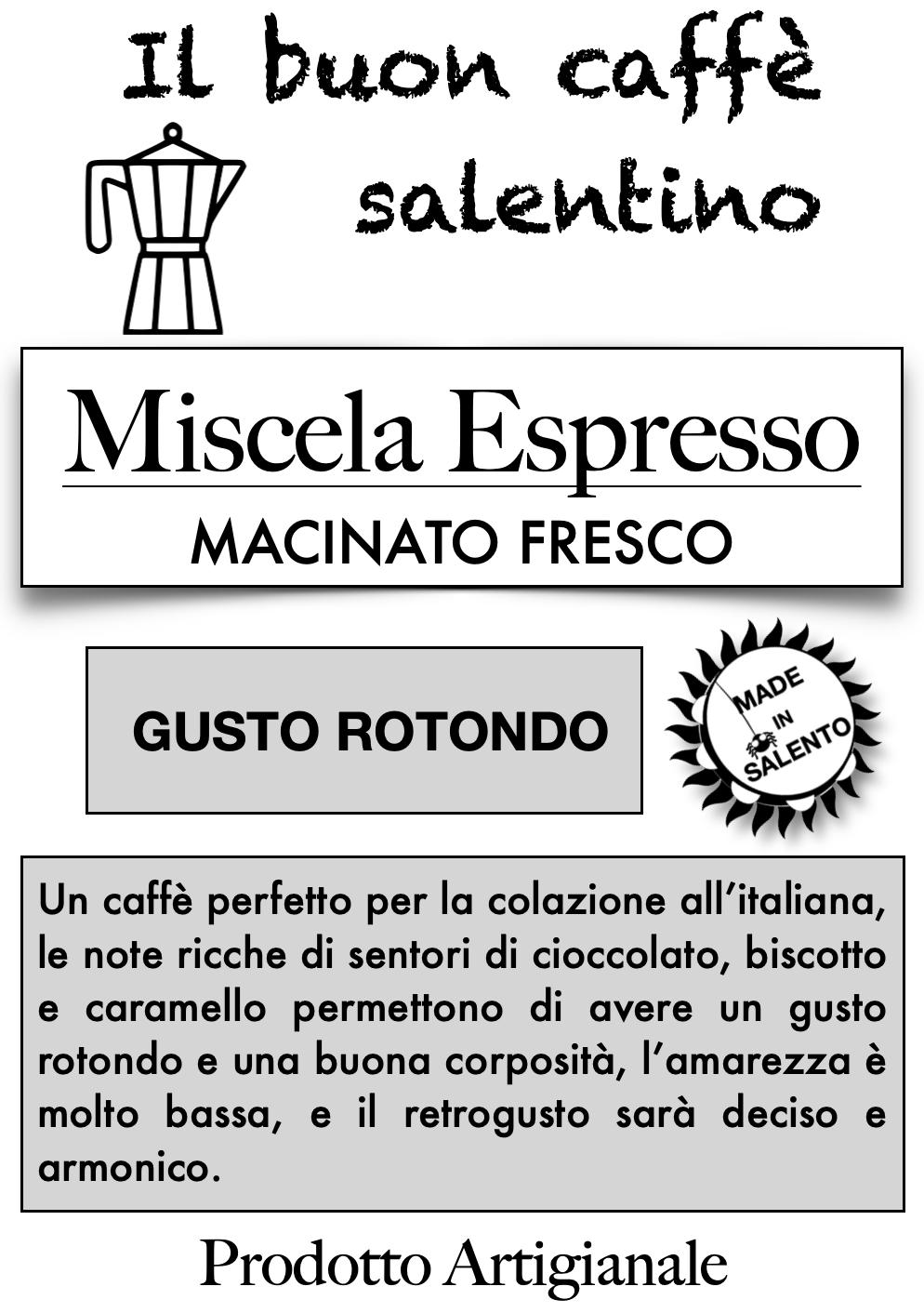 Miscela Espresso - Caffè macinato fresco