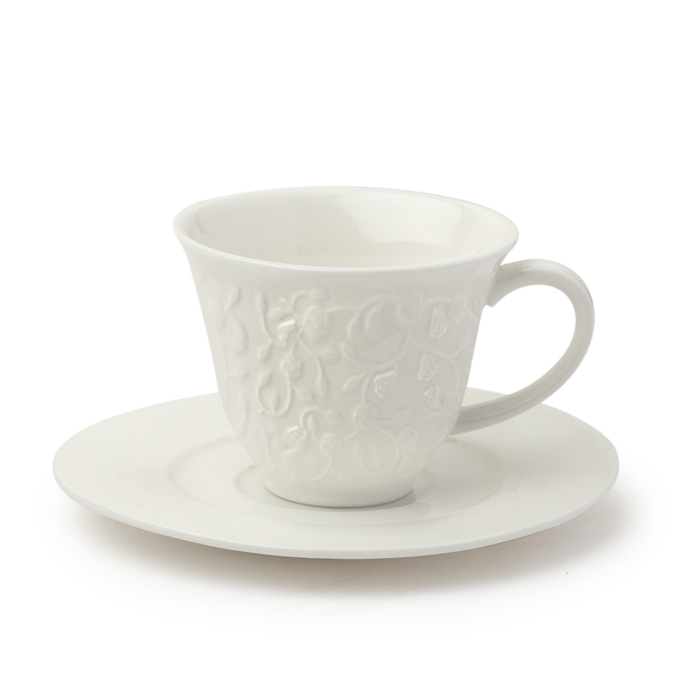 HERVIT - SET 2 TAZZINE CAFFE' PORCELLANA 9X5,5CM