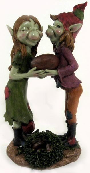Due Pixie con castagna innamorati