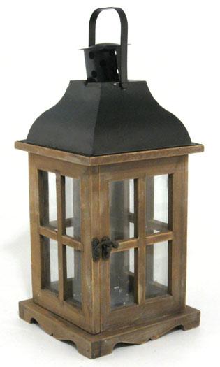 Lanterna in legno linea country