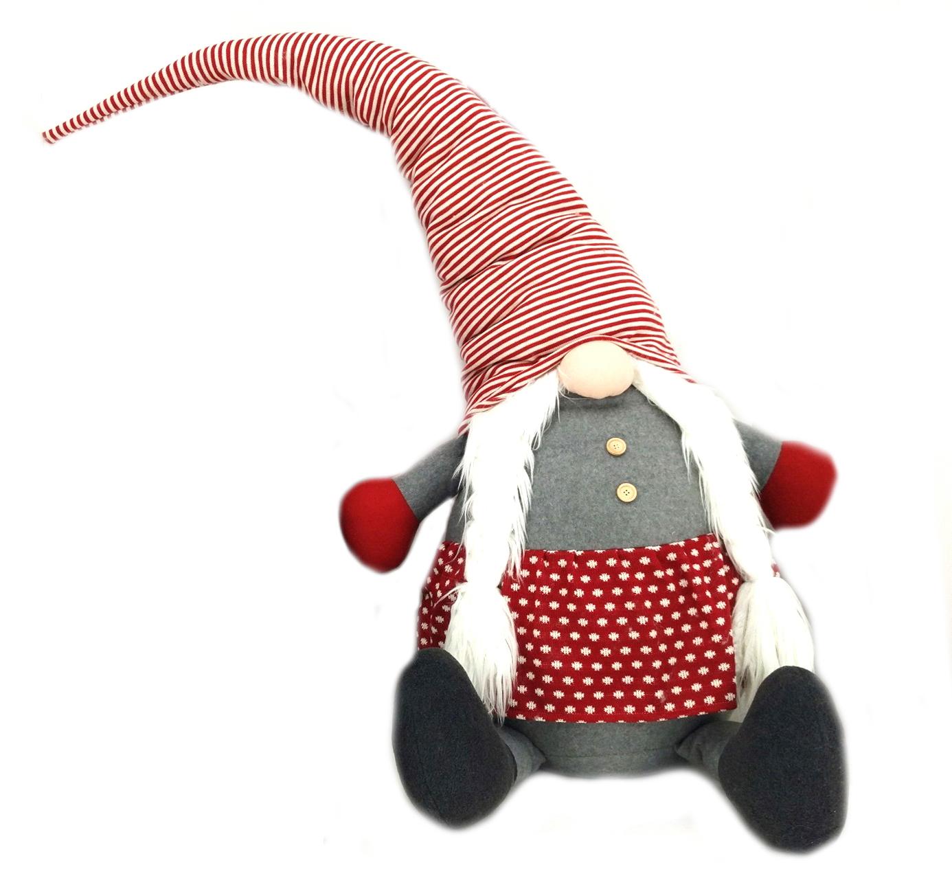 Gnoma grande fermaporta cm 150 cappello rosso
