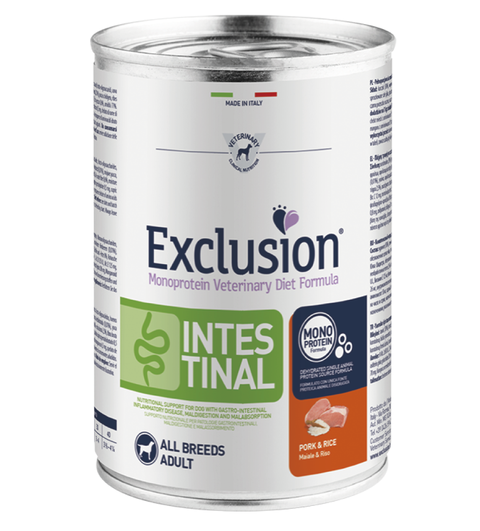 Exclusion - Veterinary Diet Canine - Intestinal - 400g x 12 lattine