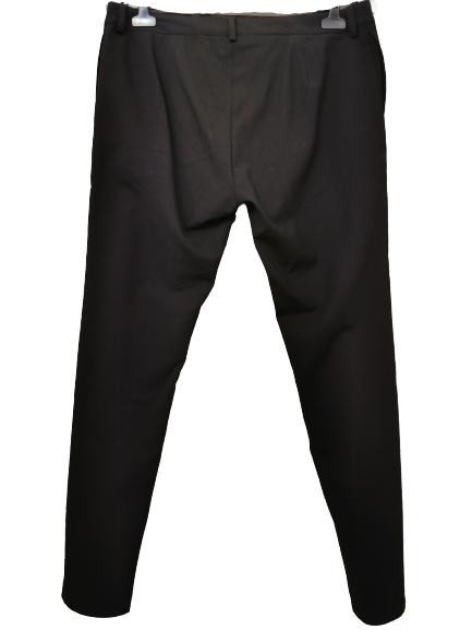 Pantalone donna nero | in crèpe di lana | con tasche laterali | taglio