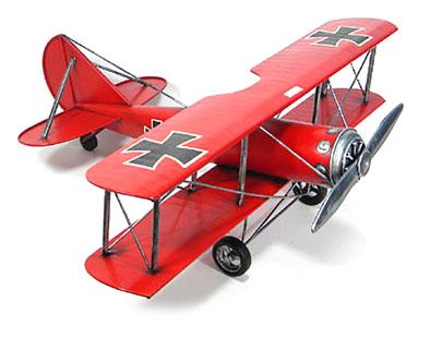 Aereo in metallo rosso modellino cm 60
