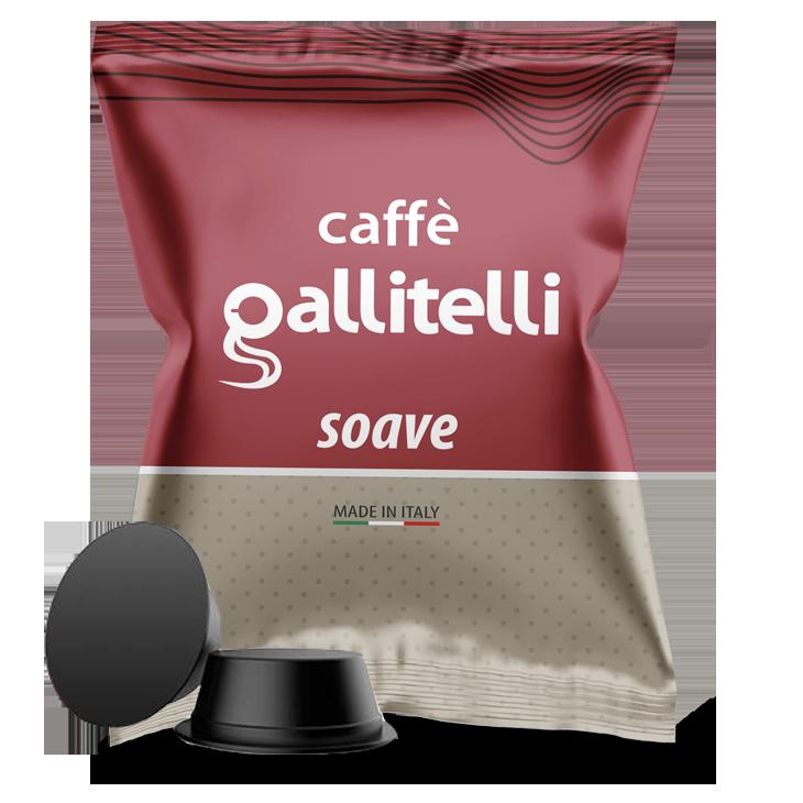 Caffè Gallitelli 100 capsule compatibili Lavazza A Modo Mio miscela Soave
