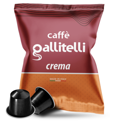 Caffè Gallitelli 100 capsule compatibili Nespresso miscela Crema