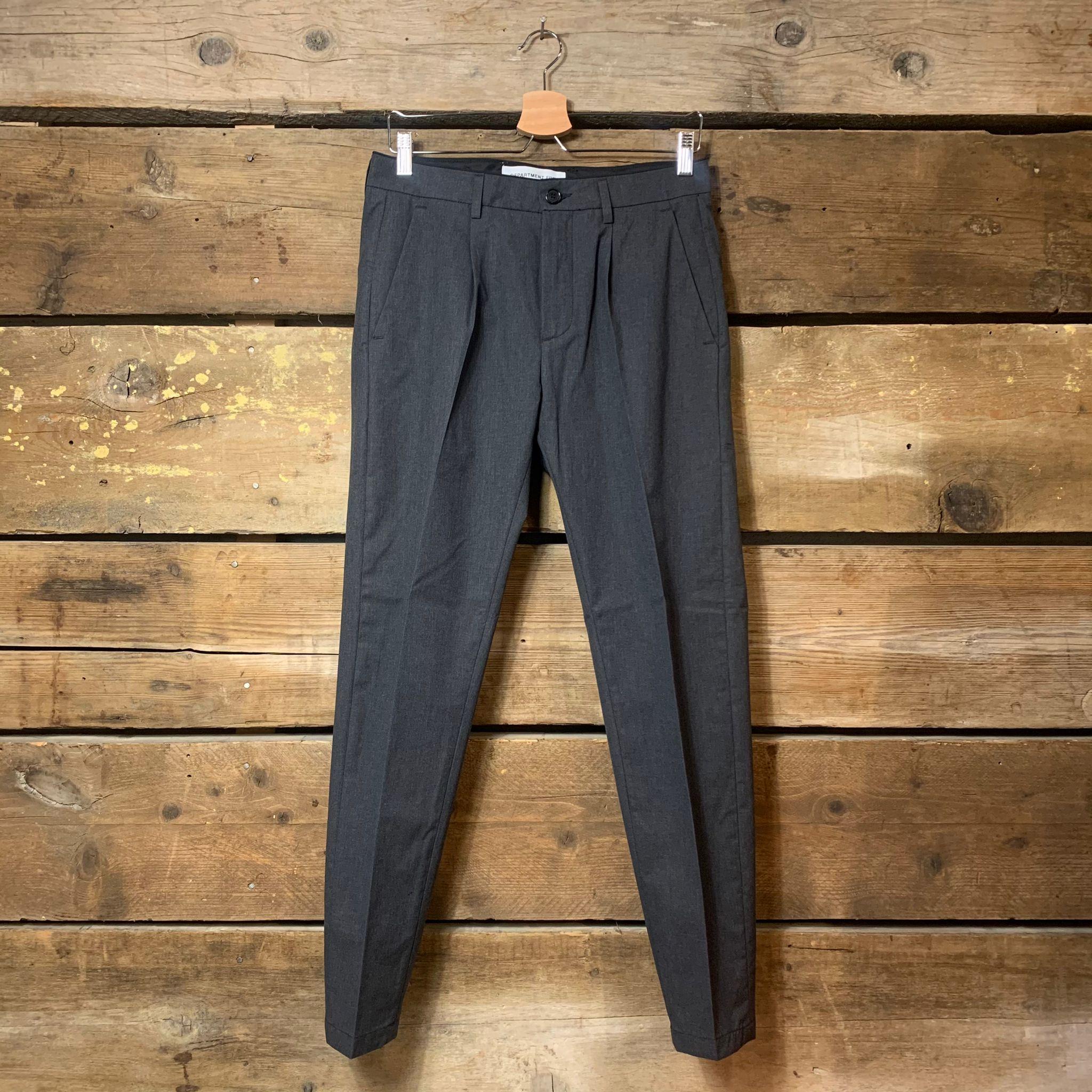 Pantalone Department 5 Uomo Prince Pences Chinos Antracite 100% Cotone