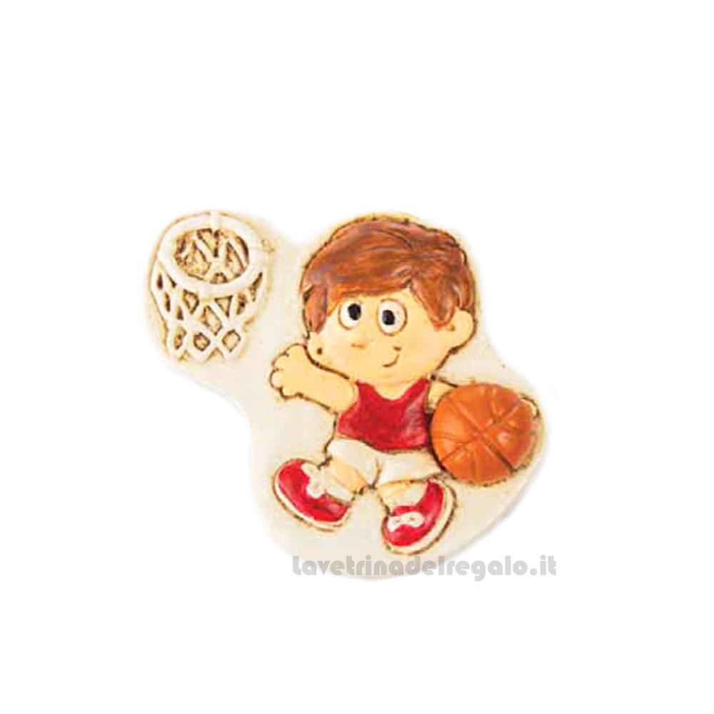 Magnete bambino Basket in resina 4 cm - Bomboniera comunione bimbo