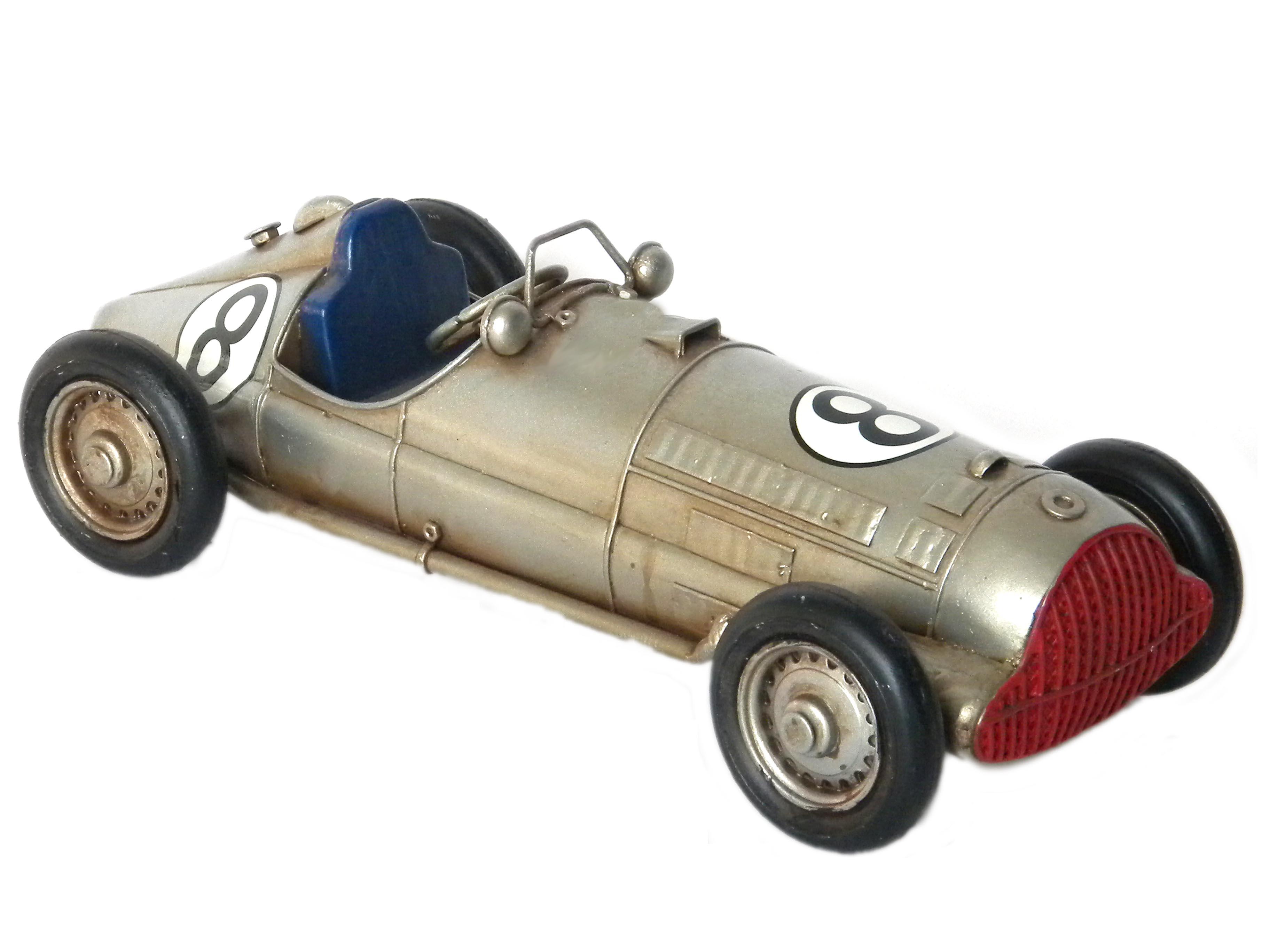 Auto modellino metallo grigia cm 28