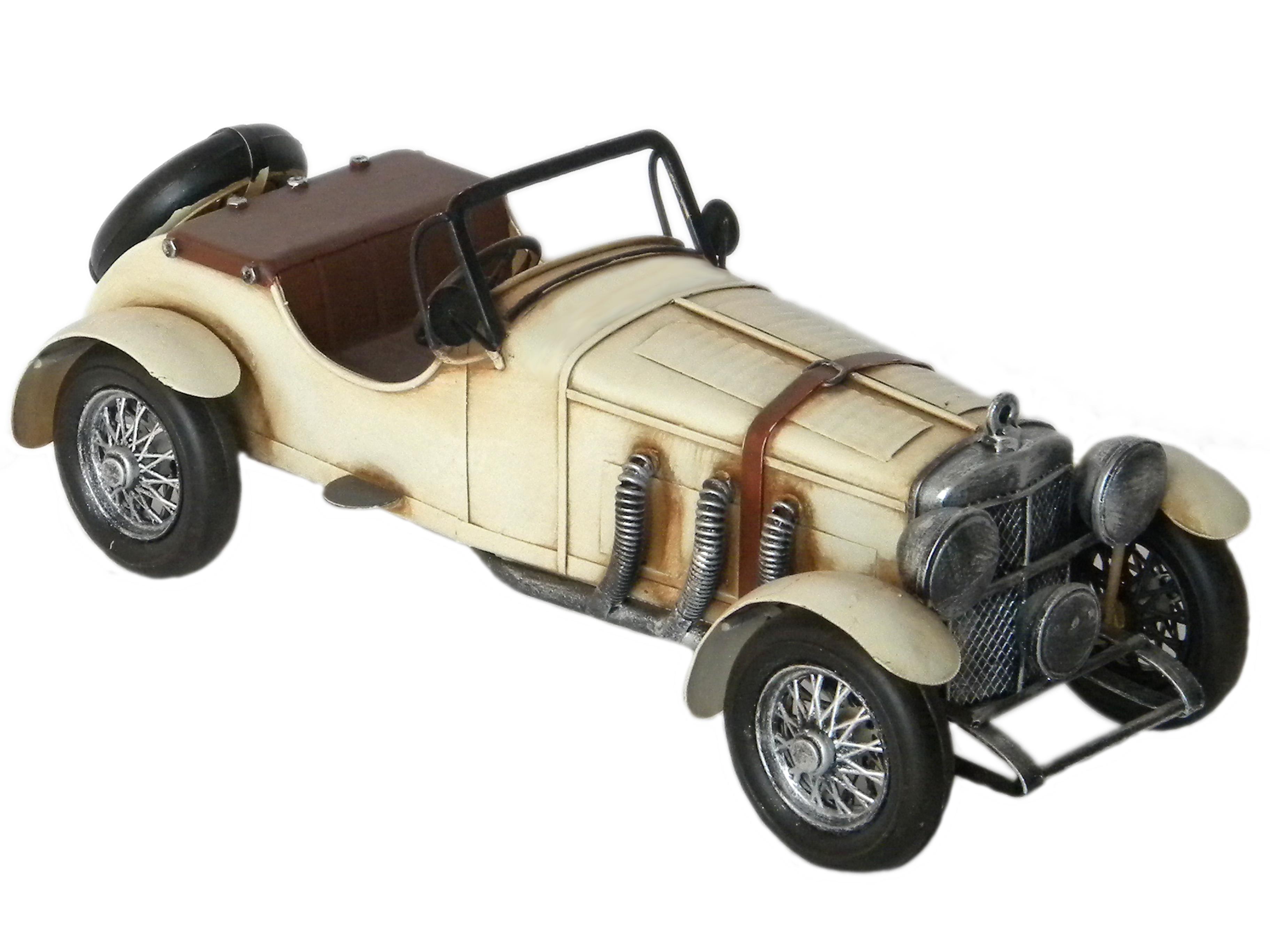 Auto modellino metallo bianca cm 28