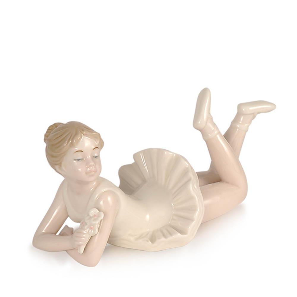Royal Class - Ballerina sdraiata in porcellana bianca