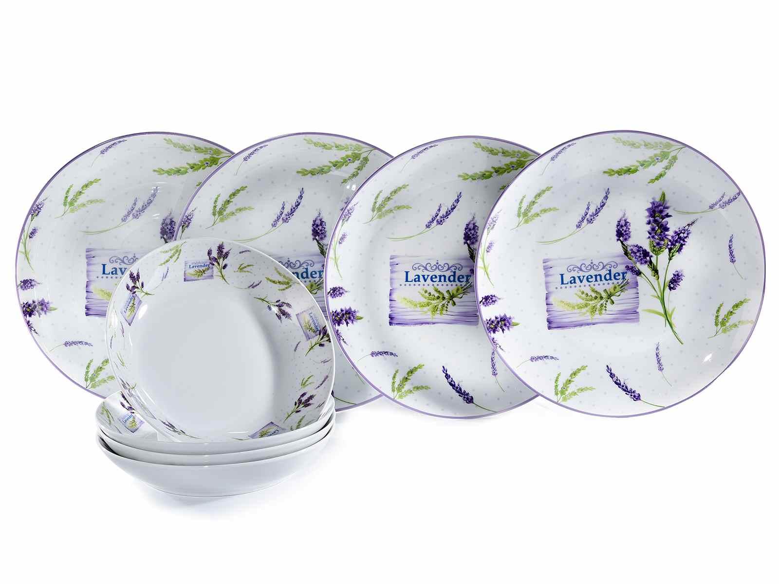 Set 8 piatti Lavanda in porcellana