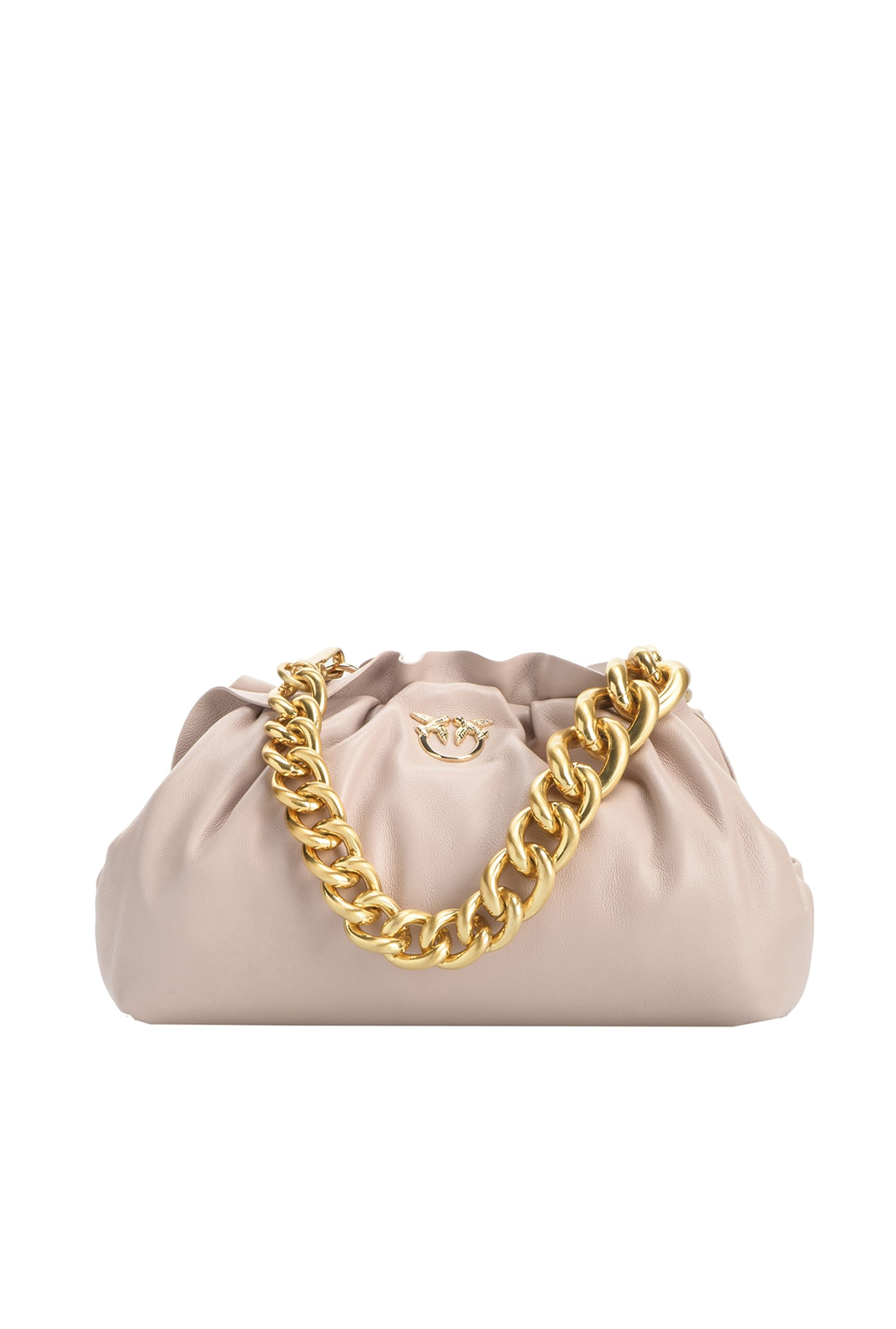 Borsa Mini Chain Clutch fraimed cipria Pinko