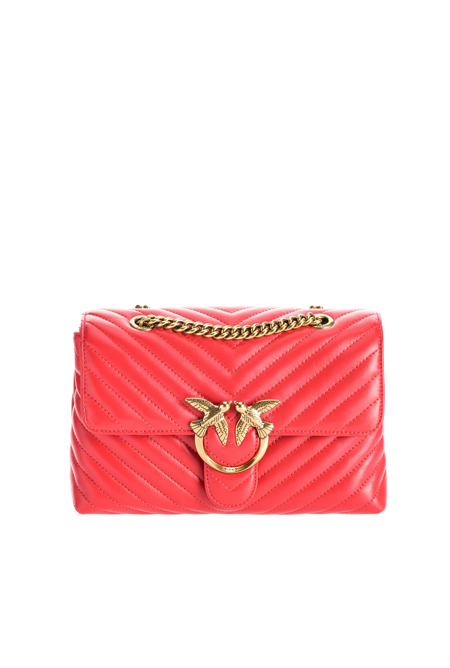 Tracolla Love lady puff V quilt rossa Pinko
