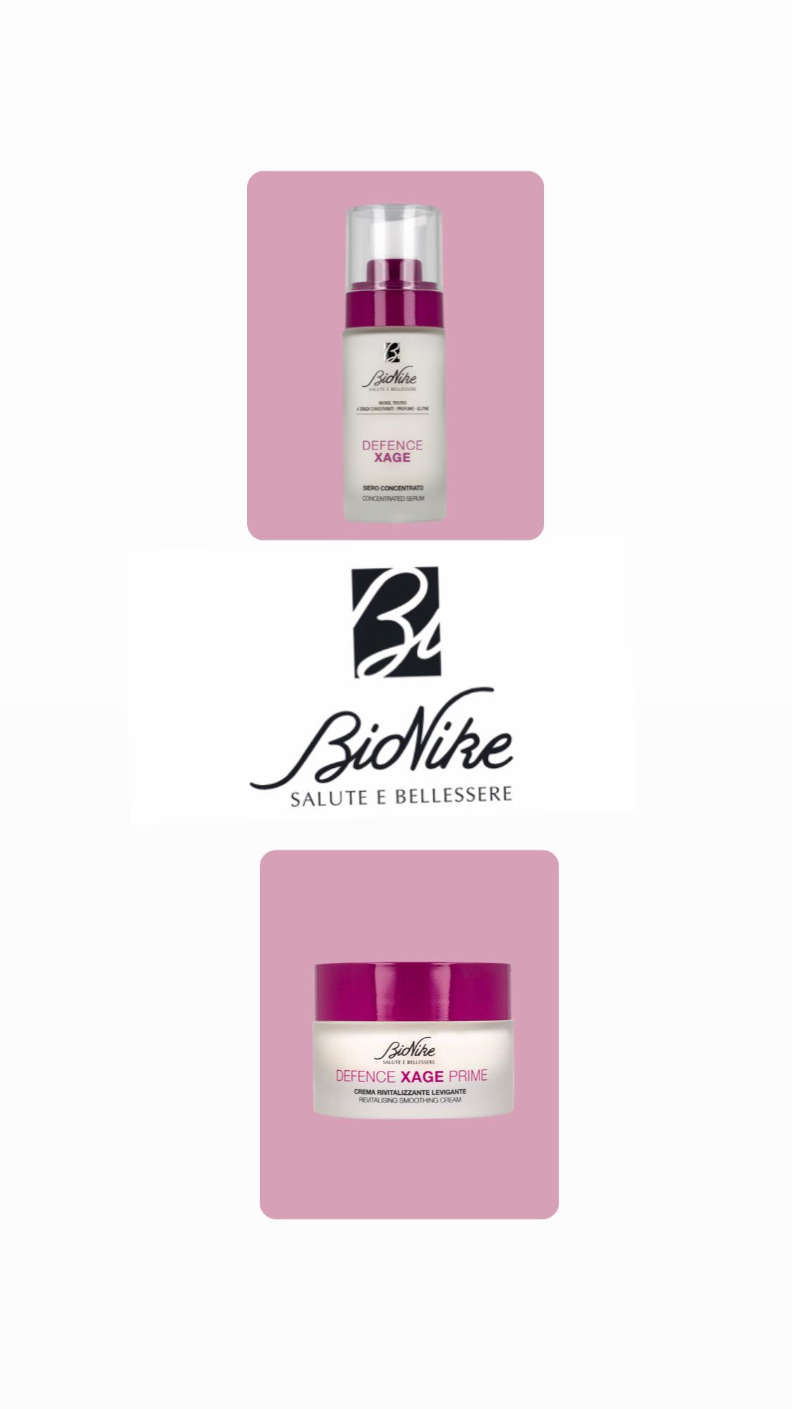 Bionike Defence xage siero + crema rivitalizzante levigante