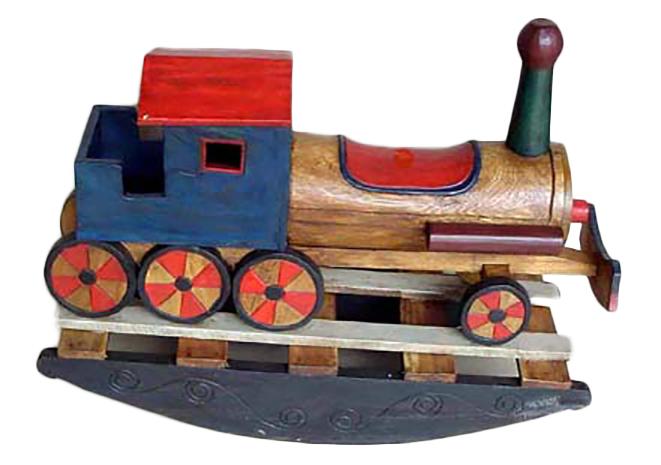 Locomotiva a dondolo legno cm 100