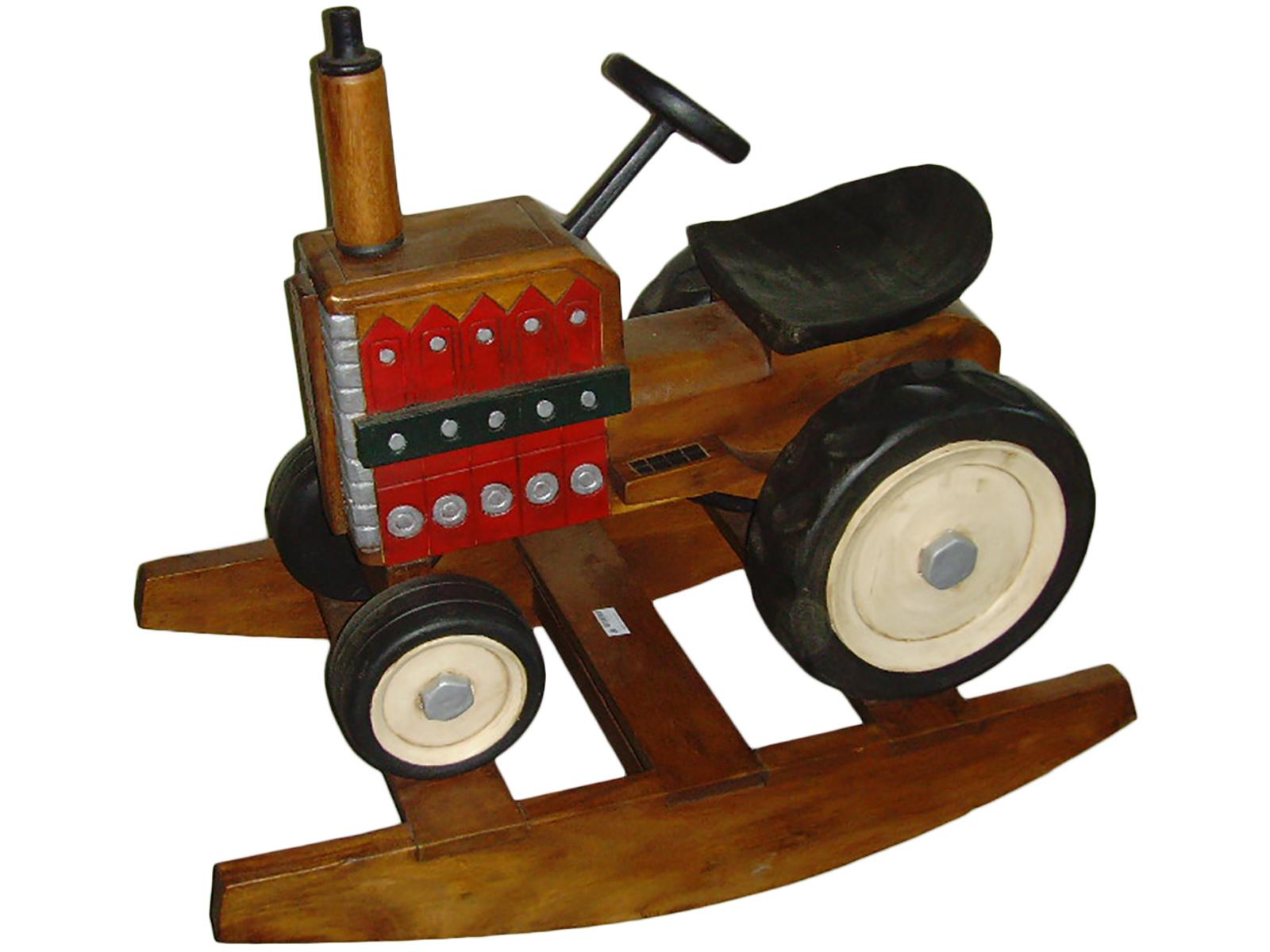 Trattore a dondolo legno cm 84
