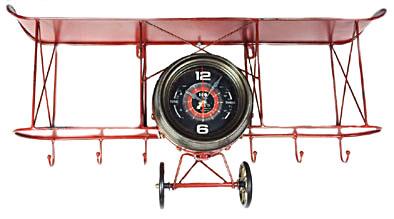 Orologio aereo porta chiavi in metallo cm 38