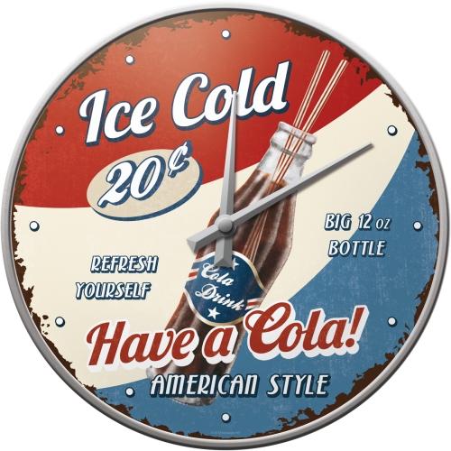 Orologio Have a Cola! metallo e vetro cm 31