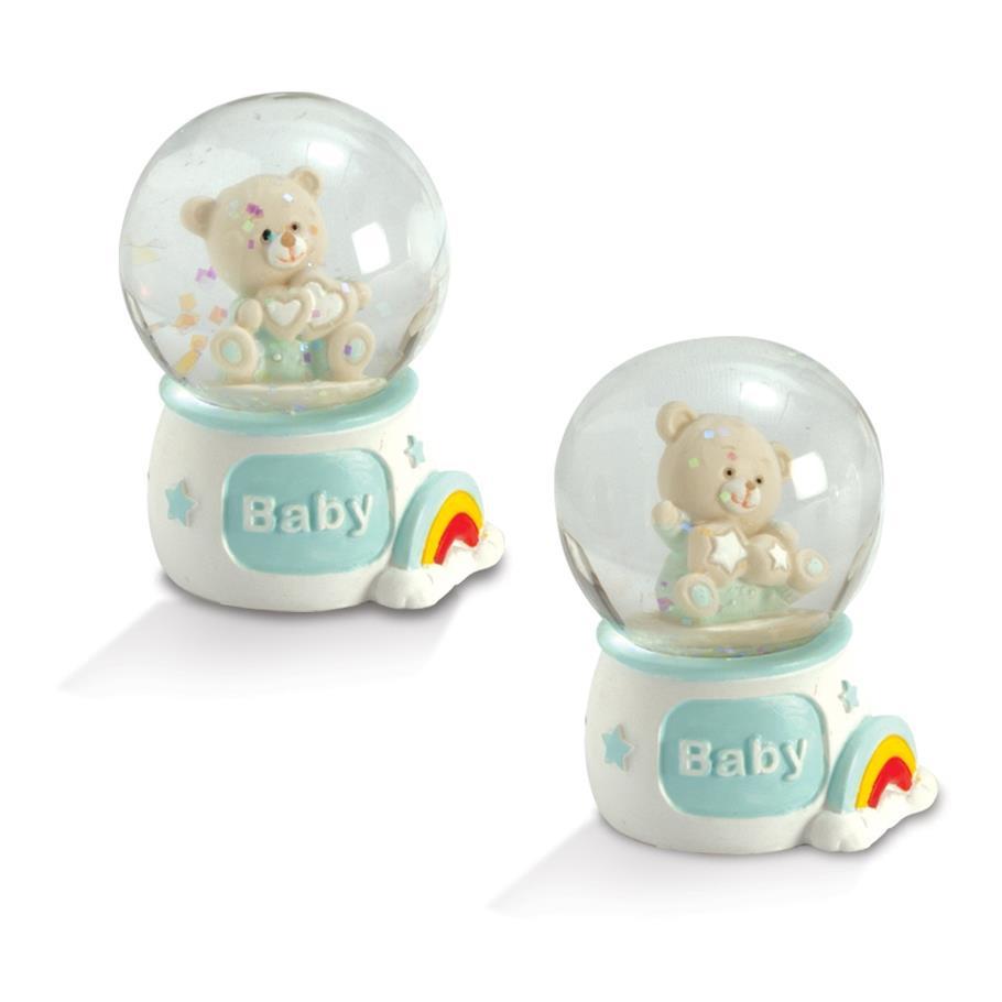 Quadrifoglio - collezione Felice, sfera acqua neve con orsetto