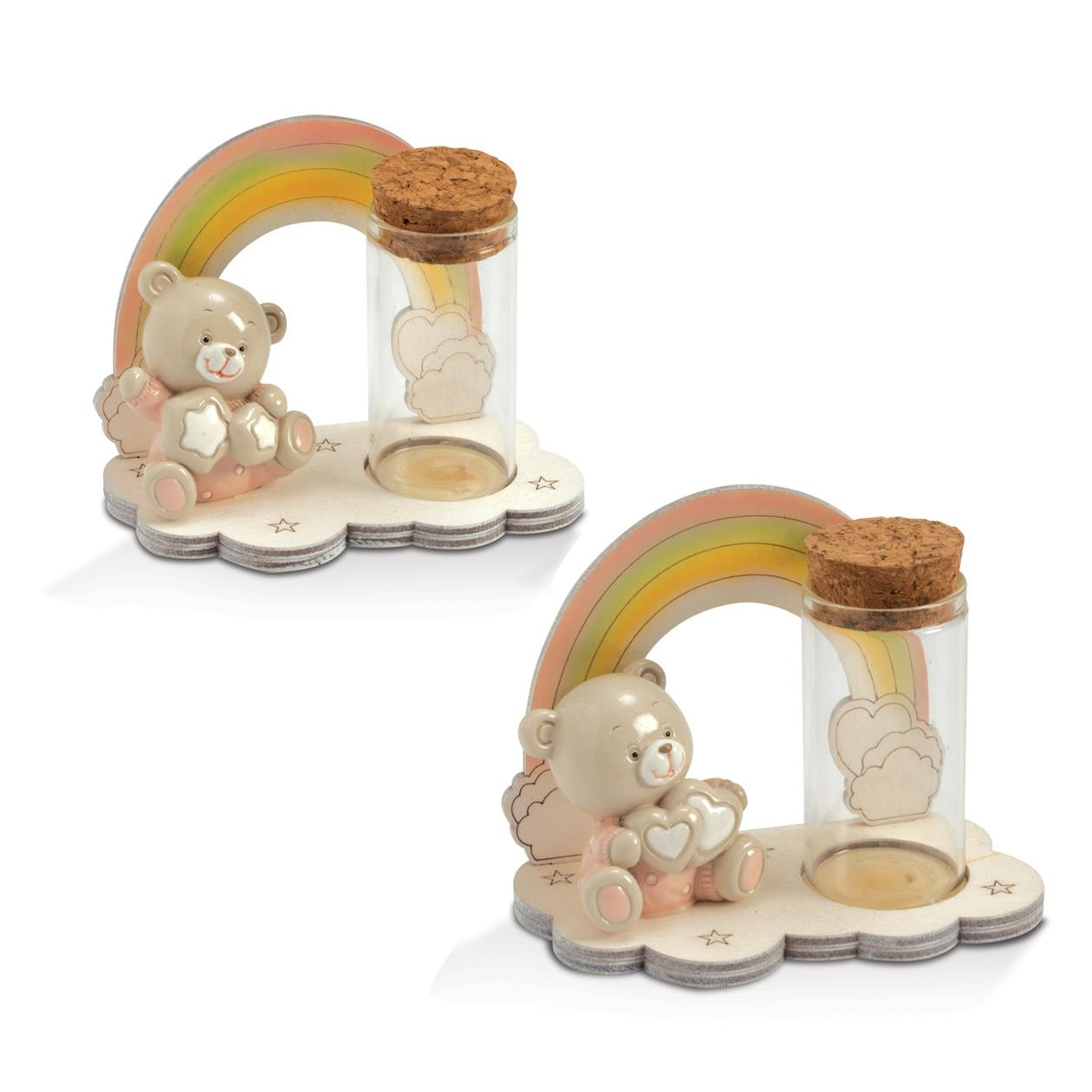 Quadrifoglio - collezione Felice, p/confetti con orsetto