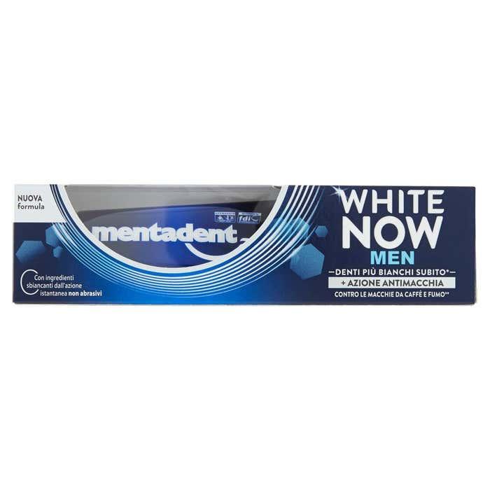 MENTADENT White Now Men Dentifricio 75ml azione antimacchia