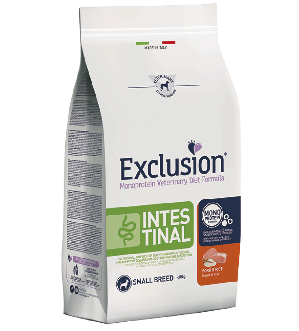 Exclusion - Veterinary Diet Canine - Intestinal - Small - 7Kg