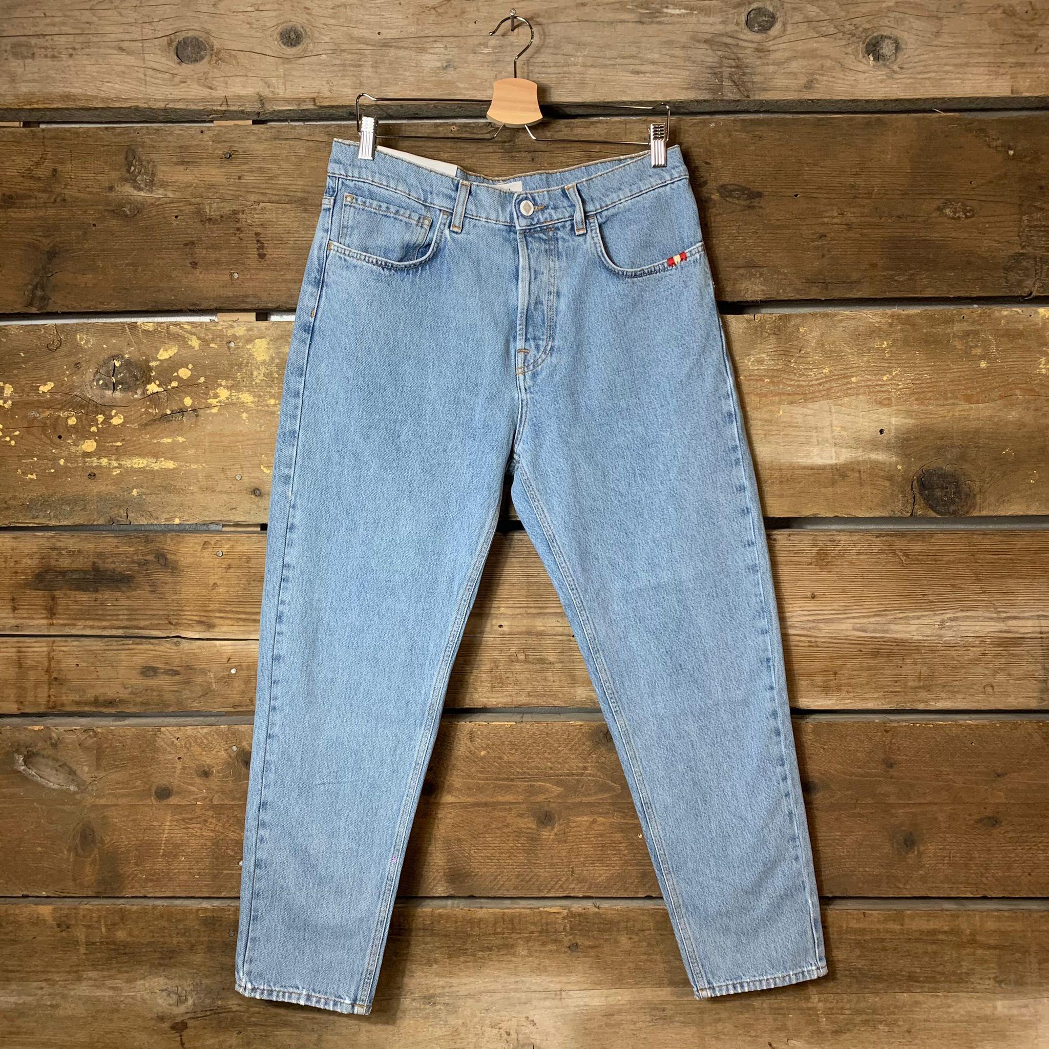 Jeans Amish Supplies Uomo Jeremiah Bleached Blu Chiaro