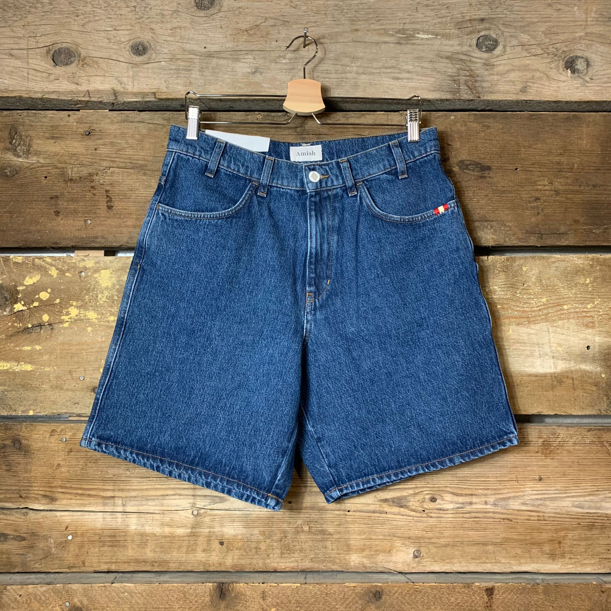 Jeans Amish Supplies Uomo Bermuda Bernie Blu Scuro