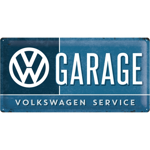 Cartello Volkswagen Garage cm 25 x 50 metallo